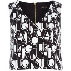 Black alphabet #print #crop top #riverisland #fashion