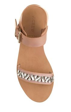 Jeweled Leather Sandals