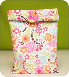 Memoirs of a Marine Corps Wife: Reusable Cloth Lunch Bag Tutorial