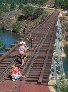 Nice hike (but very dangerous to walk on a railroad trestle of an active line)