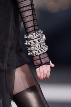 12 New Accessory Trends We Can't Wait To Try  The Massive Bangle    Chanel fall '13