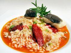 Arroz con bacalao y tomates secos