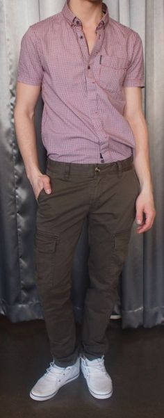 Zanerobe red checked shirt $115, brown pants $135 from Gotstyle Menswear.