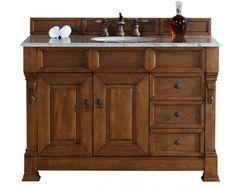 "$1600    Bosco Brookfield 48"" Country Oak w/ Drawers Single Vanity Soft-Close Doors/Drawers"