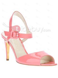 Wonderful Pink Stiletto Heels Peep Toe Women Summer Sandals