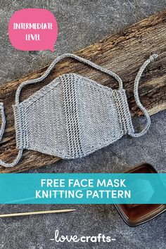 Knit your own Face Mask with a FREE pattern - Stricken - Couture Knitting Patterns Free, Knit Patterns, Free Knitting, Free Pattern, Pattern Sewing, Diy Mask, Diy Face Mask, Face Masks, Crochet Faces