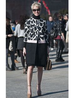 Milan Fashion Week Street Style F/W 2012, Day 3