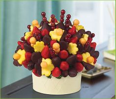 Edible Arrangements - With Deepest Sympathy™ -  this is the large size for $111 in NY - Maybe there's one like this for a happy occasion?