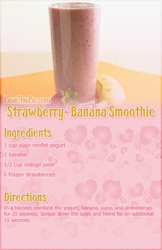 Strawberry Banana Smoothie Recipe: