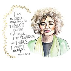 Angela Davis, one of the celebrities who spoke during the Women's march in Washington D. Feminist Quotes, Feminist Art, Empowerment Quotes, Women Empowerment, Words Of Hope, Wise Words, Popsugar, Woman Quotes, Life Quotes