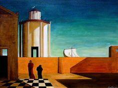 Giorgio de Chirico, El enigma de la llegada, 1912 Carmen Pinedo Herrero: La alegría habita las ciudades extrañas: Giorgio de Chirico