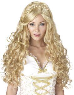 Antike Göttin Perücke blond mit Locken - Artikelnummer: 500739000