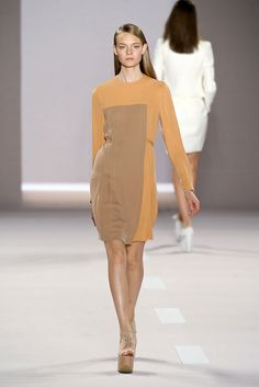 love this colorblocking, subtle color disparity. Akris Spring 2012 RTW