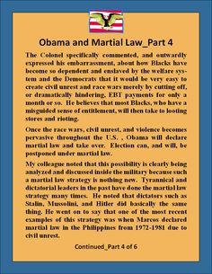 I need to be ready This is what a Plan for Martial Law would or could look like, I hear martial law a lot and now I understand more._4 of 6 2-2-14