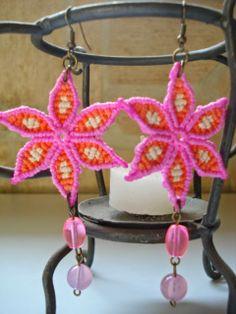 Macrame Marysol: Tutorial Flores earrings