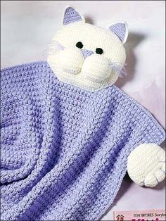 Kitty Blanket Buddy - Cynthia Harris  #Free #Crochet #Pattern free-crochet.com Membership site - membership is free and well worth it!