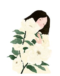 Camellia by Xuan Loc Xuan- Toi Gallery Art And Illustration, Inspiration Artistique, Simple Art, Love Art, Art Inspo, Painting & Drawing, Art Paintings, Watercolor Art, Art History