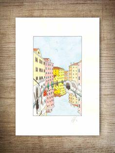 Fondamenta Malcanton watercolor  #watercolor #venice #venezia #fondamenta #colors