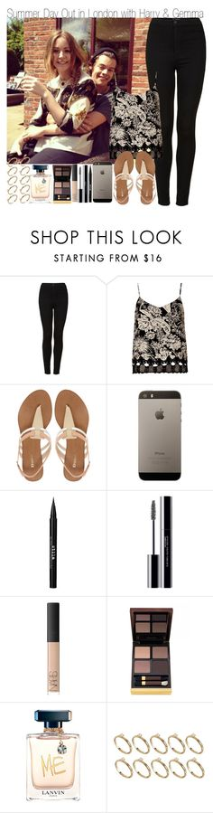 """""""Summer Day Out in London with Harry and Gemma"""" by elise-22 ❤ liked on Polyvore featuring Topshop, Dune, Stila, shu uemura, NARS Cosmetics, Tom Ford, Lanvin and ASOS"""