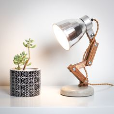 Little Miss Desk Lamp, Table Lamp, Bedside Lighting, Recycled Wood, Energy Efficiency, Little Miss, Ceiling Lamp, Surface Design, Concrete