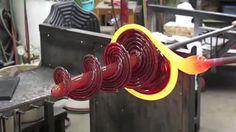 Hot glass spiral