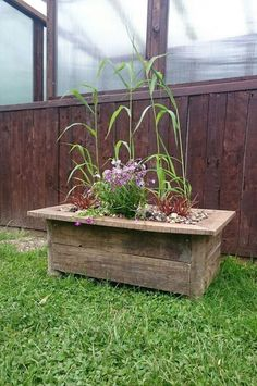 Here's a cost effective and power tool free way of building a rustic planter for your garden