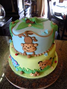 Cutest baby shower cake for animal themed shower