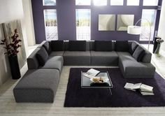 Hoekbank Elements inclusief hocker. Living Room, Furniture, Room, Home Improvement Projects, House, Interior Decorating, Interior, Home, Sectional Couch