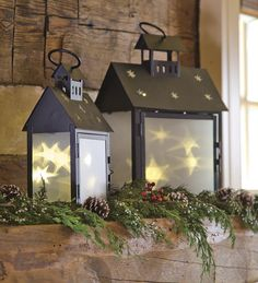 Set of 2 Star Box Lanterns, One EachSave $9.95 on the set!