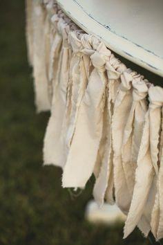 diy fabric fringe wedding decor ideas