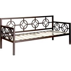 This versatile Medallion Twin Daybed features a classic design that fits in perfectly with any decor. This deep daybed provides ample seating and sleeping space and has plastic leg glides to protect floors from being scratched.