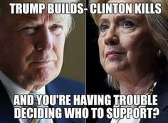 HILLARY is about more of obabas failed policies, raising taxes in a big way, while TRUMP, a highly successful businessman who has 513 businesses wants to LOWER TAXES WHILE FIXING DEBT CRISIS, HE DOESN'T EVEN WANT A SALARY AS PRESIDENT--PLEASE AMERICA VOTE TRUMP TO END POLITICAL CORRUPTION AND SAVE OUR COUNTRY CONSTITUTION FREEDOM VALUES AND WAY OF LIFE