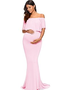 Purple 3 Strong Resistance To Heat And Hard Wearing Cosyou Maternity Dress Sexy Off Shoulder Gown Dress For Women L Dresses Clothing, Shoes & Accessories