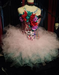 DIA DE LOS MUERTOS, Women, costume, Day of the dead Burlesque fluffy tutu M | eBay