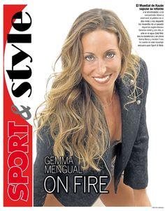 GEMMA MENGUAL ON FIRE. SPORT&STYLE de Carme Barceló. Con el team de Acqua Perruquers Cristina Platas y Aurora Rodriguez