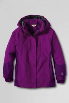Winter coat for Ellie? Girls'+Waterproof+Squall+System+3-in-1+Parka+from+Lands'+End