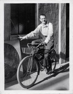 Gary Cooper - the basket in the front doesn't work but other than that Gary is a good bike rider.