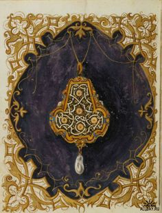 Book of jewels of the Duchess Anna of Bavaria, illustrated by Hans Muelich between 1552 and 1555.