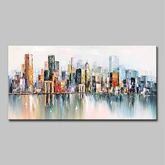 Oil Painting Abstract, Acrylic Painting Canvas, Abstract Wall Art, Painting Frames, Heart Painting, City Art, City Landscape, Abstract Landscape, Canvas Wall Art
