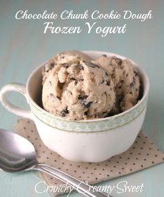 Chocolate chunk cookie dough frozen yoghurt