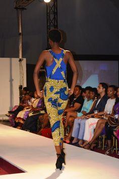 Kiki Zimba Ankara Print Fabric jumpsuit. Back. ~African fashion, Ankara, kitenge, African women dresses, African prints, Braids, Nigerian wedding, Ghanaian fashion, African wedding ~DKK