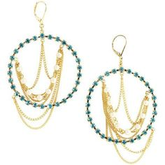 Shop Chain-Detailed Gypsy Hoop Earrings from ABS by Allen Schwartz at Neiman Marcus Last Call, where you'll save as much as on designer fashions. Chandelier Chain, Abs By Allen Schwartz, Gold Chains, Neiman Marcus, Gypsy, Fashion Jewelry, Hoop Earrings, Crystals, Detail