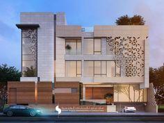 No photo description available. Architecture Design, Modern Architecture House, Facade Design, Residential Architecture, Modern Exterior House Designs, Modern House Design, Exterior Design, Villa Design, House Front Design
