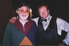 Joyce Risaliti of Canton shared this photo of her husband, Dave, with actor Robin Williams. The photo wastaken in California in 1997 during the