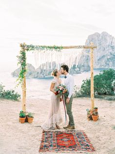 AZTEC BOHO CACTUS WEDDING SHOOT IN ES VEDRA IBIZA   PHOTOGRAPHY: http://www.analuiphotography.com