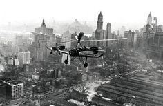 Cierva Autogiros flying over New York september 1931