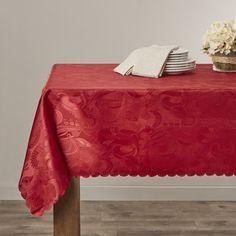"""Alcott Hill Oglethorpe Tablecloth Color: Burgundy, Size: 60"""" W x 60"""" L"""