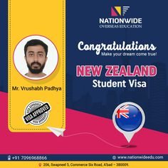 Congratulations & Bon Voyage for Overseas Education in New Zealand Study In New Zealand, Book Background, Overseas Education, Good Luck To You, Work Hard, Dreaming Of You, Wish, Congratulations, Student