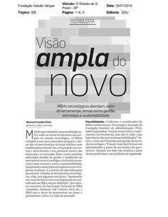 Matéria do jornal O Estado de São Paulo, sobre cursos de MBA e os valores que acrescentam para o estudante / profissional.