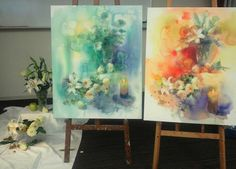 Yuko Nagayama, artist acuarela, #watercolor #flowers #painting